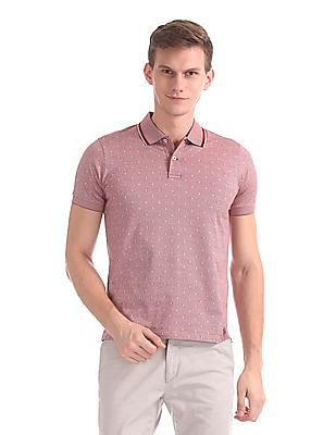 Gant Jacquard Structure Short Sleeve Rugger Polo Shirt