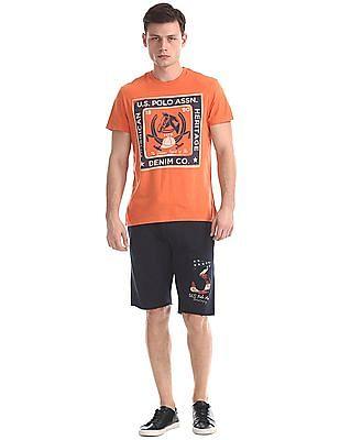 U.S. Polo Assn. Denim Co. Regular Fit Drawstring Waist Jersey Shorts