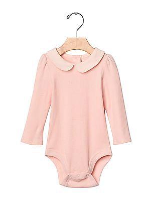 GAP Baby Pink Peter Pan Collar Bodysuit