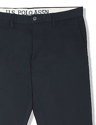 U.S. Polo Assn. Regular Fit Solid Trousers