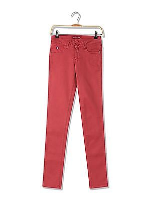U.S. Polo Assn. Women Skinny Fit Flat Front Trousers