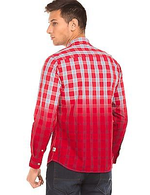 Cherokee Dip Dyed Check Shirt