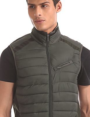 Arrow Sports Green Quilted Gilet Jacket