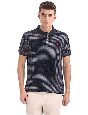 U.S. Polo Assn. Regular Fit Floral Print Polo Shirt