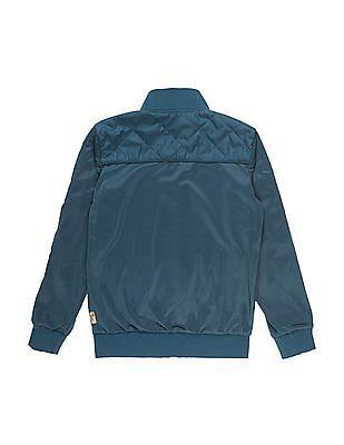 FM Boys Solid Slim Fit Bomber Jacket