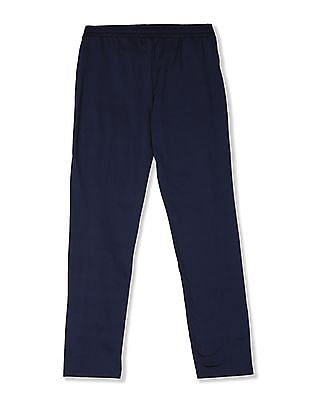 The Children's Place Blue Girls Contrast Taping Active Track Pants