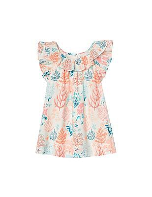 7764fa1bf32 GAP Baby Coral Reef Ruffle Dress
