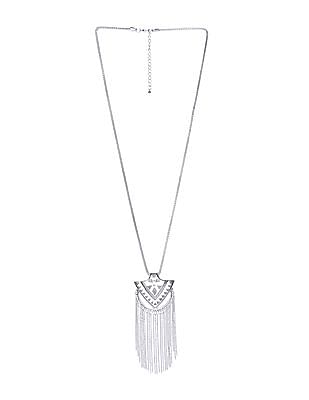 Unlimited Tribal Metal Tassel Necklace