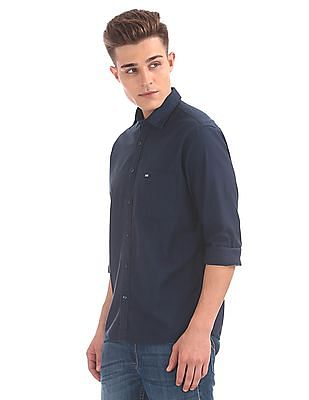 Arrow Sports Regular Fit Spread Collar Shirt