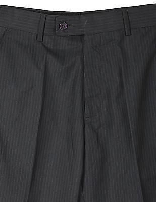 Arrow Smart Fit Striped Trousers