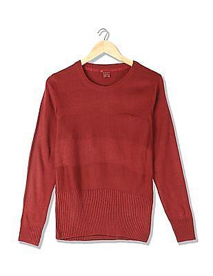 Flying Machine Women Long Sleeve Round Neck Sweater