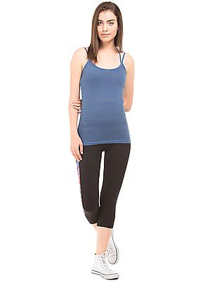 Aeropostale Patterned Criss Cross Strap Camisole