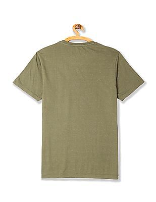 Flying Machine Neps Knit Crew Neck T-Shirt
