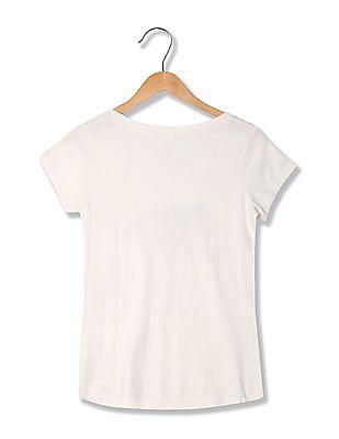 U.S. Polo Assn. Women Printed Round Neck T-Shirt