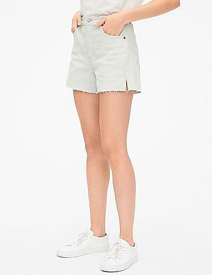 GAP Blue High Rise Denim Shorts with Secret Smoothing Pockets