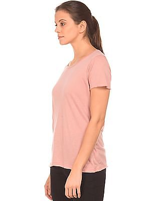 Cherokee Solid Round Neck T-Shirt