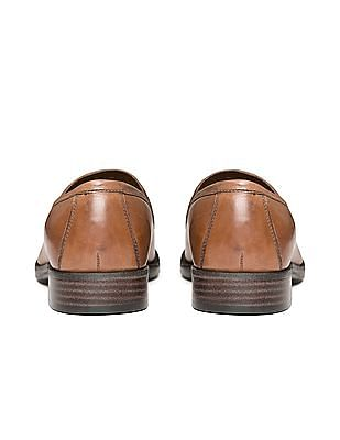 Johnston & Murphy Distressed Leather Penny Loafers
