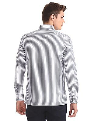 Excalibur Cutaway Collar Striped Shirt