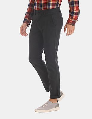 GAP Black Slim Fit Textured Trousers