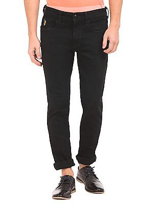 U.S. Polo Assn. Denim Co. Crinkled Slim Tapered Fit Jeans