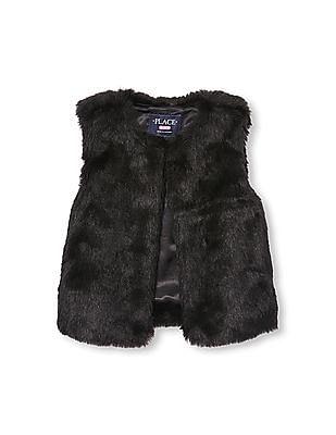 The Children's Place Girls Faux-Fur Vest