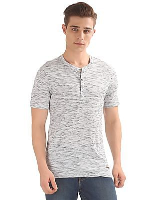 Cherokee Space Dyed Henley T-Shirt