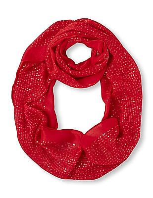 The Children's Place Girls Sequin Embellished Infinity Scarf