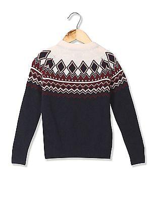 U.S. Polo Assn. Kids Standard Fit Woolen Sweater