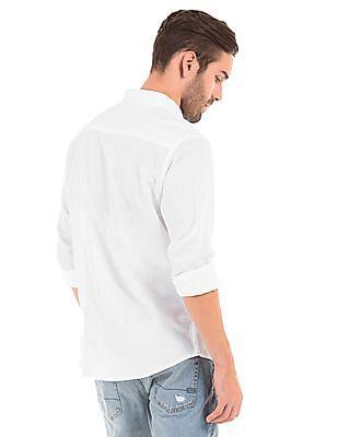 Aeropostale Button Down Cotton Linen Shirt