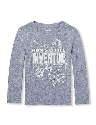 The Children's Place Baby And Toddler Boy Long Sleeve 'Mom's Little Inventor' Graphic Tee