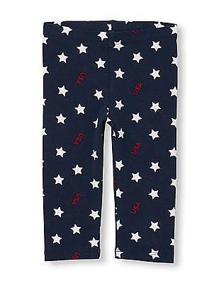 5adf0a373 Buy Toddler Girl Toddler Girl Star Print Capri Leggings online at ...