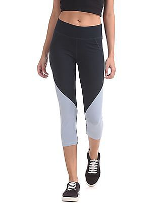 Aeropostale Colour Blocked Active Capri Leggings