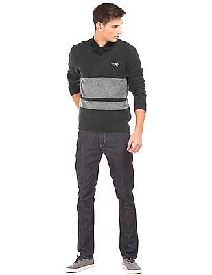 U.S. Polo Assn. Denim Co. Muscle Fit Striped Sweater