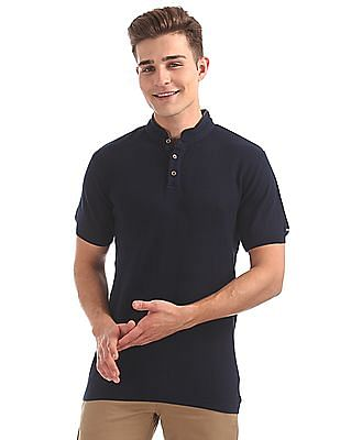 Arrow Sports Regular Fit Patterned Knit Polo Shirt