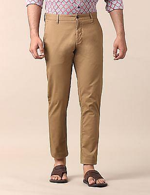 True Blue Slim Fit Cut Pocket Trousers