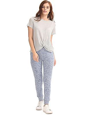 Aeropostale Knot Front Lounge Top