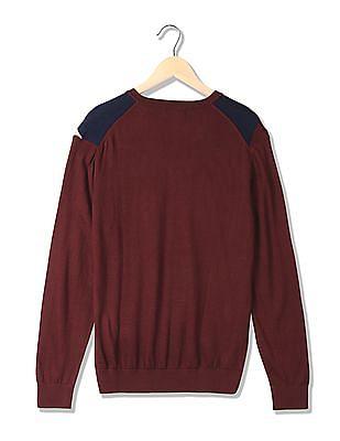 Arrow Sports Merino Wool V-Neck Sweater