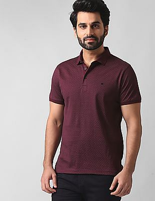 True Blue Printed Polo Shirt