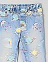 GAP Toddler Girl All Over Print Washed Jeggings