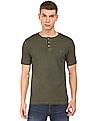 Cherokee Washed Henley T-Shirt