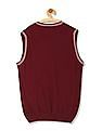 U.S. Polo Assn. Stripe Trim Flat Knit Sweater Vest