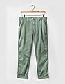 GAP Women Green Girlfriend Twill Stripe Chinos