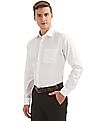 Arvind French Placket Dobby Shirt