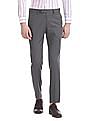 USPA Tailored Slim Fit Patterned Weave Trousers