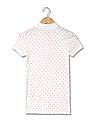Aeropostale Short Sleeve Polka Dot Print Polo Shirt