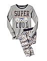 GAP Boys Grey Glow In The Dark Sleep Set