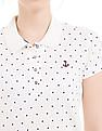 Flying Machine Women Polka Print Regular Fit Polo Shirt