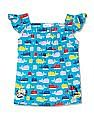 Donuts Girls Square Neck Printed Tunic