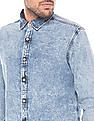 Flying Machine Regular Fit Acid Wash Shirt