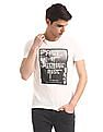 Flying Machine White Printed Front Cotton T-Shirt